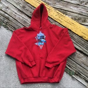 Guy Harvey fishing sweater hoodie Size XXL 2xl